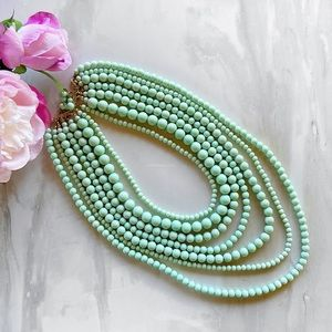 New! Mint beaded necklace